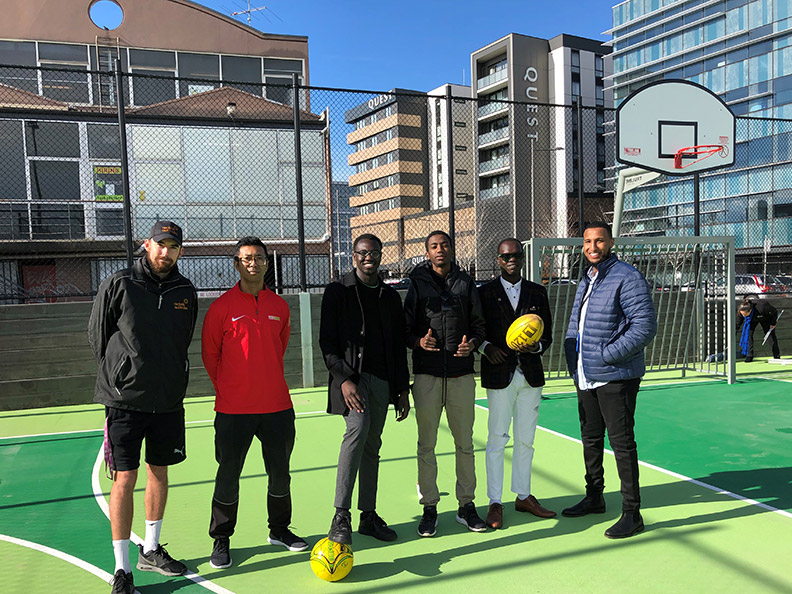 New sports court in Dandenong