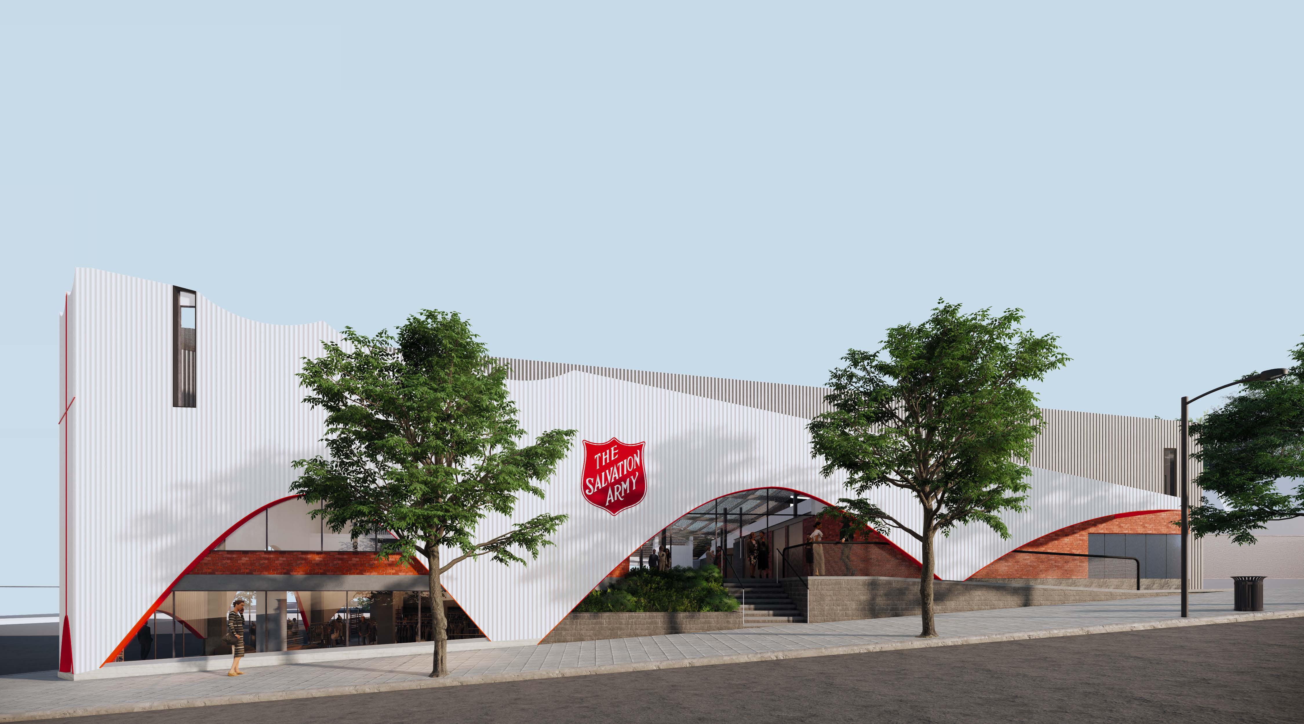 Artist impression of The Salvation Army Dandenong Hub